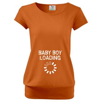 Pre tehotné Tričko Baby boy loading
