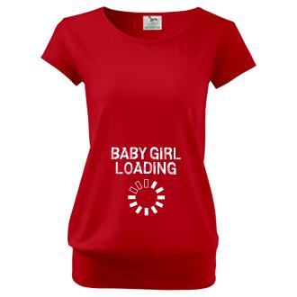 Pre tehotné Tričko Baby girl loading
