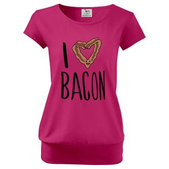Pre tehotné Tričko I love bacon