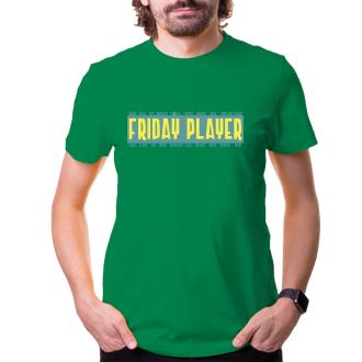 Párty Tričko Friday player - zelenožltá