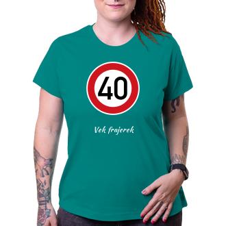 K narodeninám Tričko Okrúhla 40