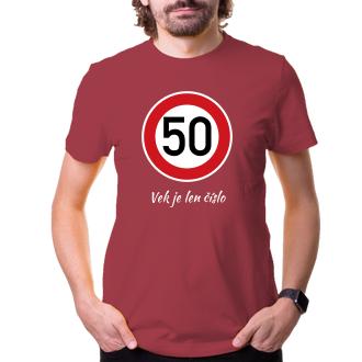 K narodeninám Tričko Okrúhla 50