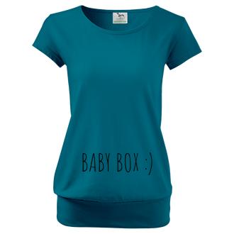 Pre tehotné Tričko Baby box