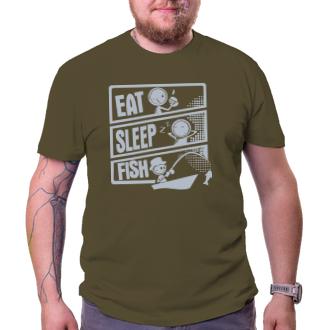 Rybári Tričko Eat, sleep, fish