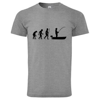 Rybári Tričko Evolúcia rybárov