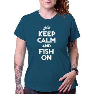 Rybári Tričko Keep calm and fish on