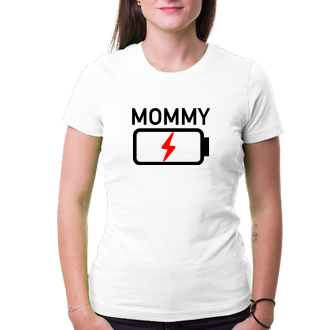 Tričko Mommy low battery