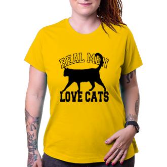 Tričko Real men love cats