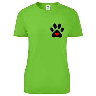 Zvieratá Tričko Psie labka