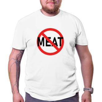 Vegetariáni a vegáni Tričko No meat