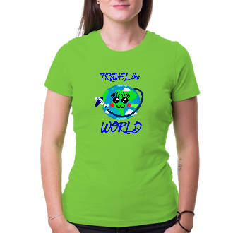 Cestování Tričko Travel the world