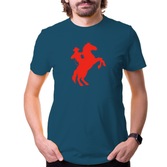 Kone a konaci Tričko Kovboj silueta