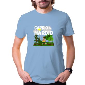 Posilňovňa Tričko Cardio hardio colour