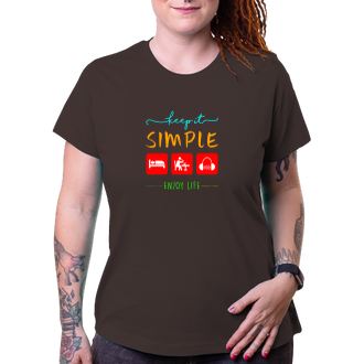 Tričko Keep it simple - enjoy life