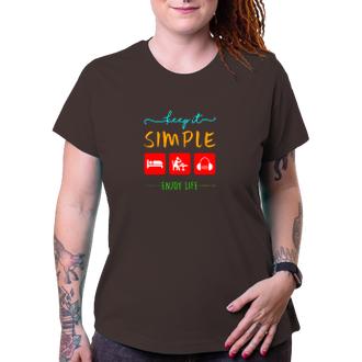 Tričko Keep it simple - enjoy life