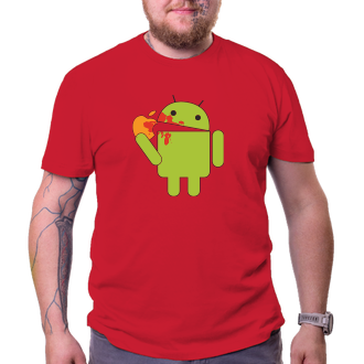 Geek Tričko Android eats Apple