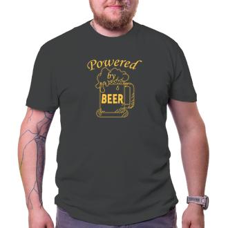 Tričko Powered by Beer