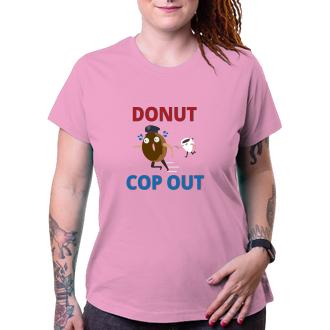 Policajti Dámske policajný triko Cop out