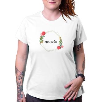 Svadobné Kvetinové tričko Nevesta
