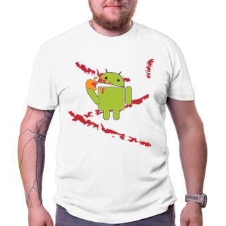 Geek Tričko Android eats Apple - bloodbath