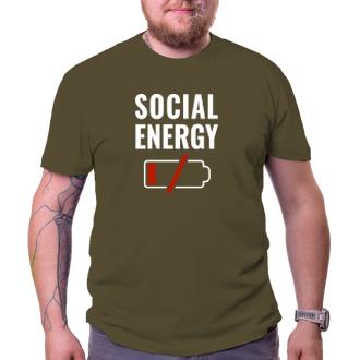 Vtipné trika Triko Social Energy