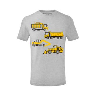Autá a motorky Detské tričko Bagre a nakladače
