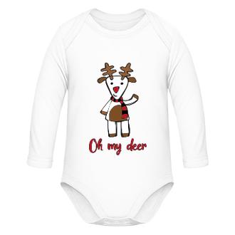 Vianočné body pre bábätko Deer