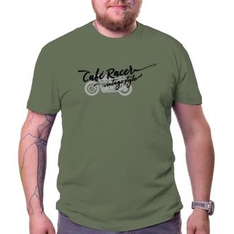 Autá a motorky Vintage tričko Café Racer