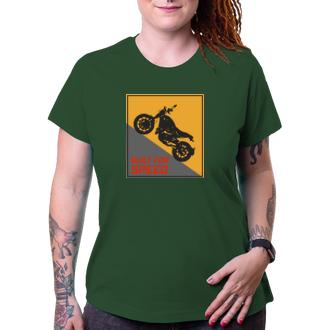 Autá a motorky Dámske motorkárske tričko Speed